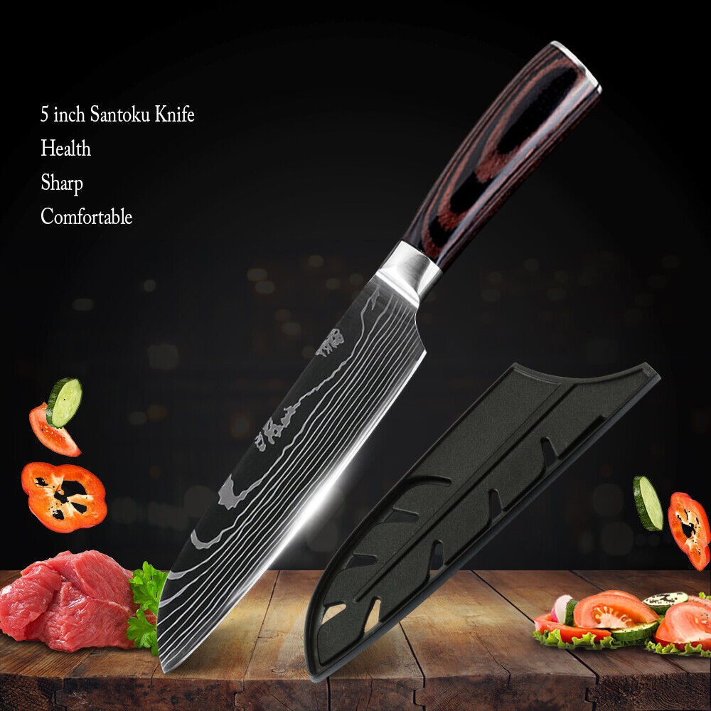 5 inch Kitchen Knife High Carbon Stainless Steel Damascus Pa