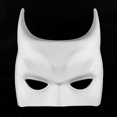 Batman Blank Costume Party DIY Venetian Masquerade Mask M7351 [White]