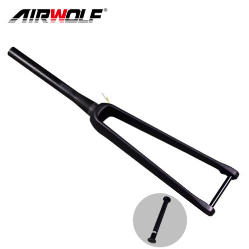 AIRWOLF Carbon Road Fork Disc 700c Rigid Bike Forks 1-1//8 To 1-1//2 100*12mm