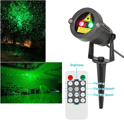 US Christmas Laser House Tree Waterproof Light Outdoor Holiday Garden Projector