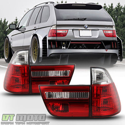 - 2000-2006 BMW E53 X5 Red Clear Tail Lights Brake Lamps Left+Right 00-06 4pcs Set