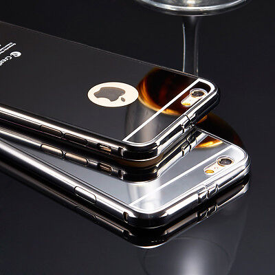 Luxury Aluminum Ultra-thin Mirror Metal Case Cover for Apple iPhone Models