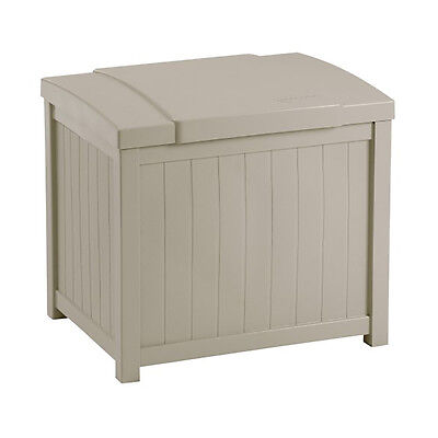 Suncast 22 Gallon Yard and Garden Stay Dry Resin Deck Box, Light Taupe   SS900
