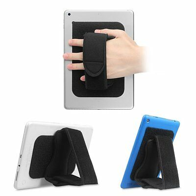 Padded Hand Strap Holder Adjustable Tablet Stand with Hook & Loop Adhesive Patch