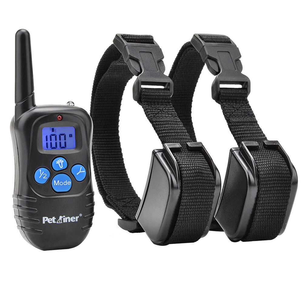 Petraniner PET998DRB2 Dog Training Shock E Collar Rechargeable Remote for 2 Dogs