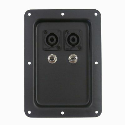 "Penn//Elcom Zinc Dual 1//4/"" Jack Plate for Speaker Cabinet"