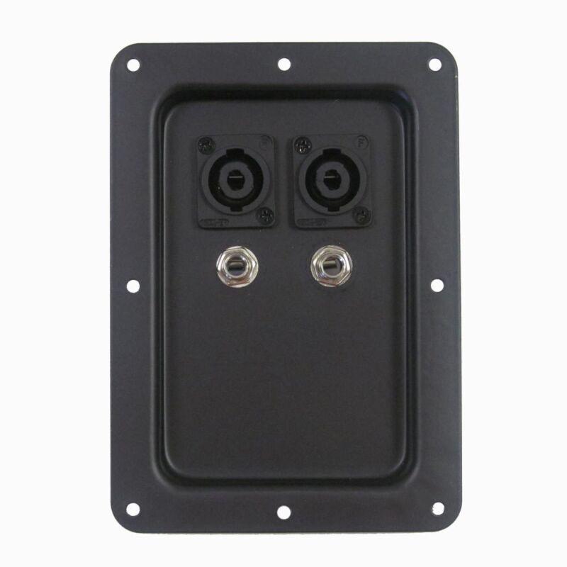 "Seismic Audio Jack Plate Dual Speakon 1/4"" PA/DJ Speaker Replacement"