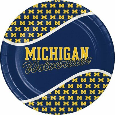 University of Michigan Wolverines Party Supply Pack Paper Plates & Napkins for 8](University Of Michigan Party Supplies)