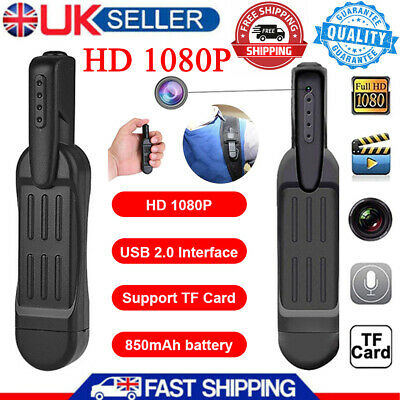 T189 Pen Mini Camera Full HD 1080P Hidden Spy Secret Wearable Body DVR Recorder