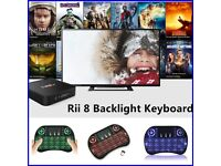 Mini Wireless Backlit 2.4Ghz Keyboard Touchpad For Android TV Box PC Laptop