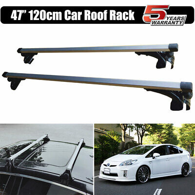 47'' Car Roof Rack Cross Luggage Bar W/3 Kinds Frame for Toyota Prius 2007-2017 3 Roof Rack