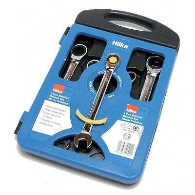 5 Piece Combination Ratchet Spanner Set Chrome Hilka 11515102 New EI