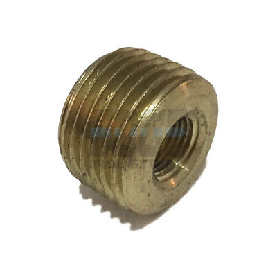 - BRASS FACE BUSHING REDUCING NPT THREADS PIPE FITTING 1/2 MALE X 1/8 FEMALE  WOG
