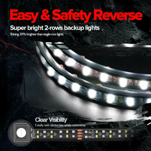 60 U0026quot  Led Strip Tailgate Light Bar Reverse Brake Signal For