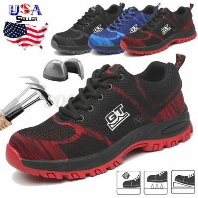Men's Steel Toe Safety Boots Work Anti-puncture Shoes Breathable Hiking