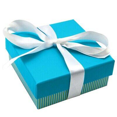 Wholesale Lot 24 Aqua Striped Square Bracelet Watch Jewelry Packaging Gift Box
