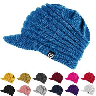 Crochet Winter Beanie - NEW Fashion Unisex Winter Visor Beanie Knit Hat Cap Crochet Men Women Ski Warm