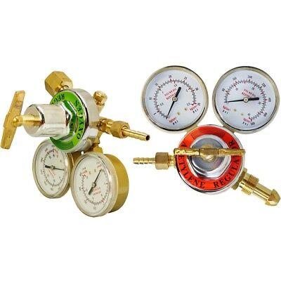 Solid Brass Oxygen Acetylene Regulator 4 Welding Fit Victor Gas Torch Cutting