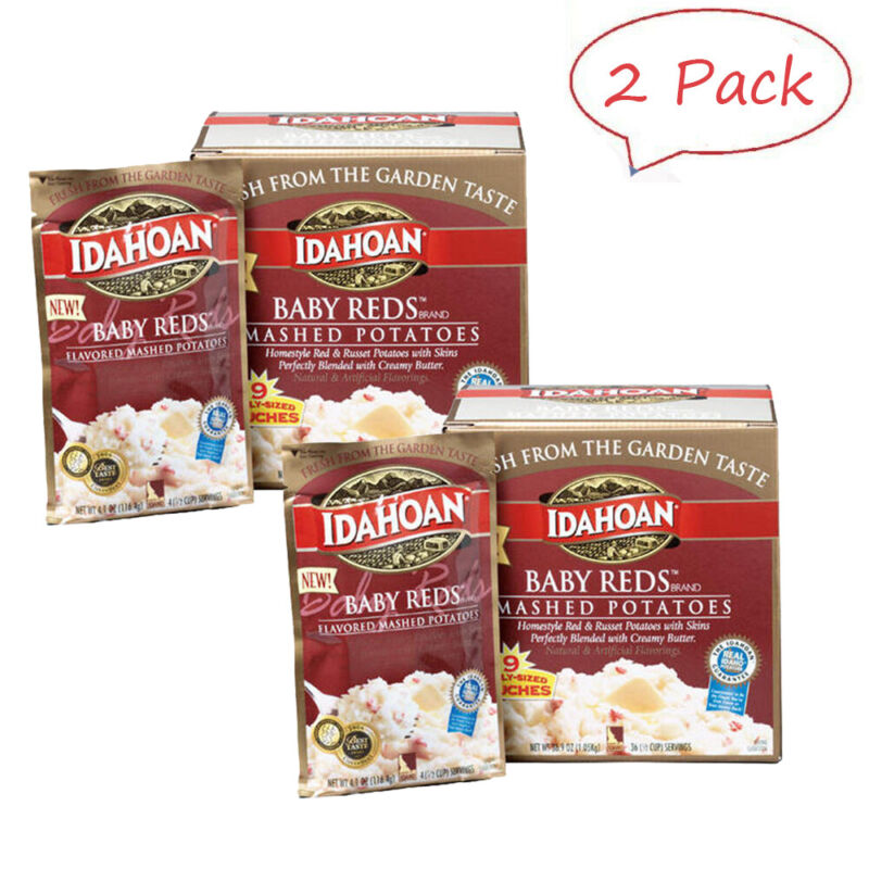 Idahoan Baby Reds Value Pack Mashed Potatoes (4 oz., 9 pk.) Pack of 2