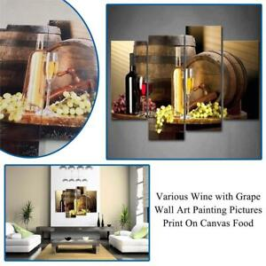 NEW Various Wine with Grape Wall Art Painting Pictures Print On Canvas Food The Picture for Home Modern Decoration Co...