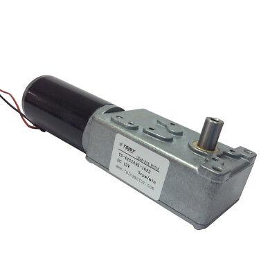 High Torque Electric 12v Dc Gear Motor Reversible Low Speed 3 Rpm 8mm Out Shaft