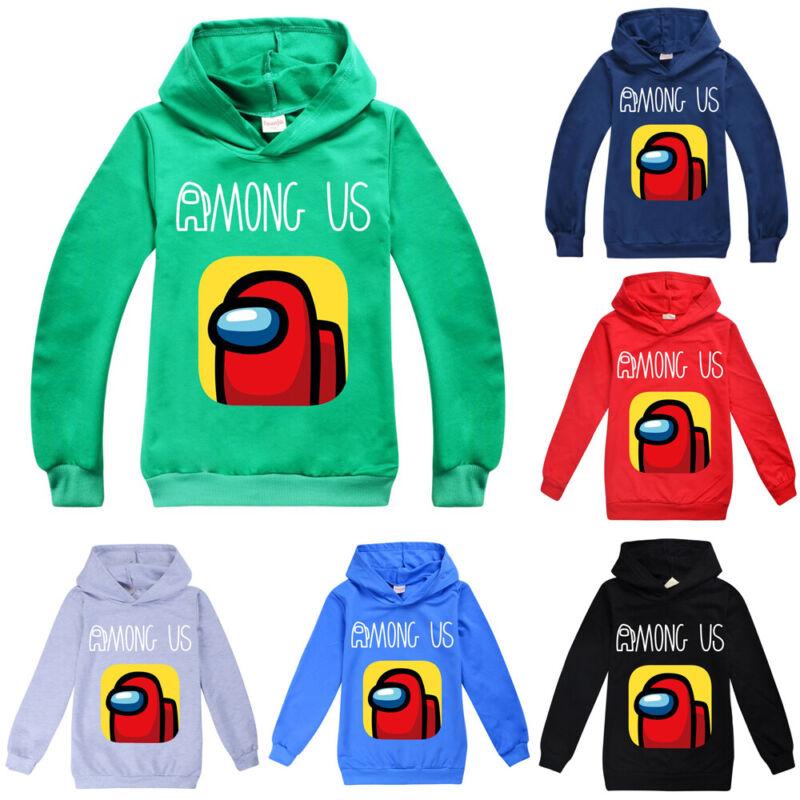 Among Us Printed Hoodie Fashion Pullover Sweatshirts Jumper