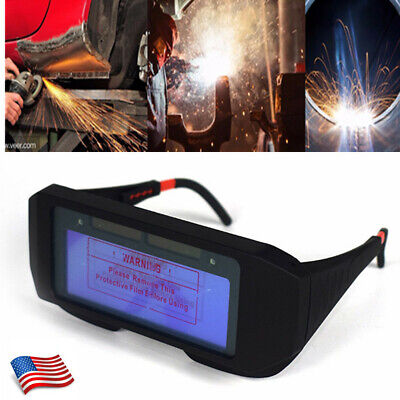 Auto Darkening Welding Eyes Goggles Solar Powered Welder Glasses Eye Protection