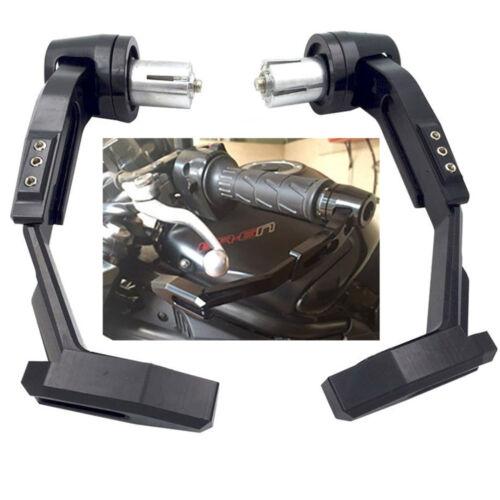 22mm Aluminium ATV Motorrad Lenker Kupplung Bremshebelschutz Handschutz Schwarz