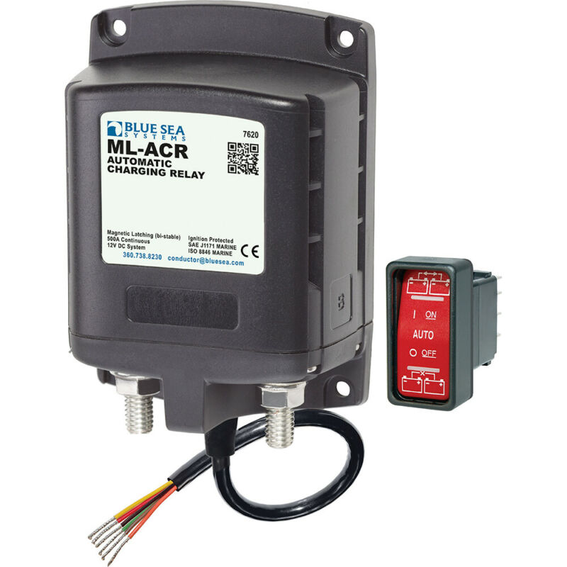 Blue Sea 7620 ML-Series Automatic Charging Relay (Magnetic Latch) 12VDC