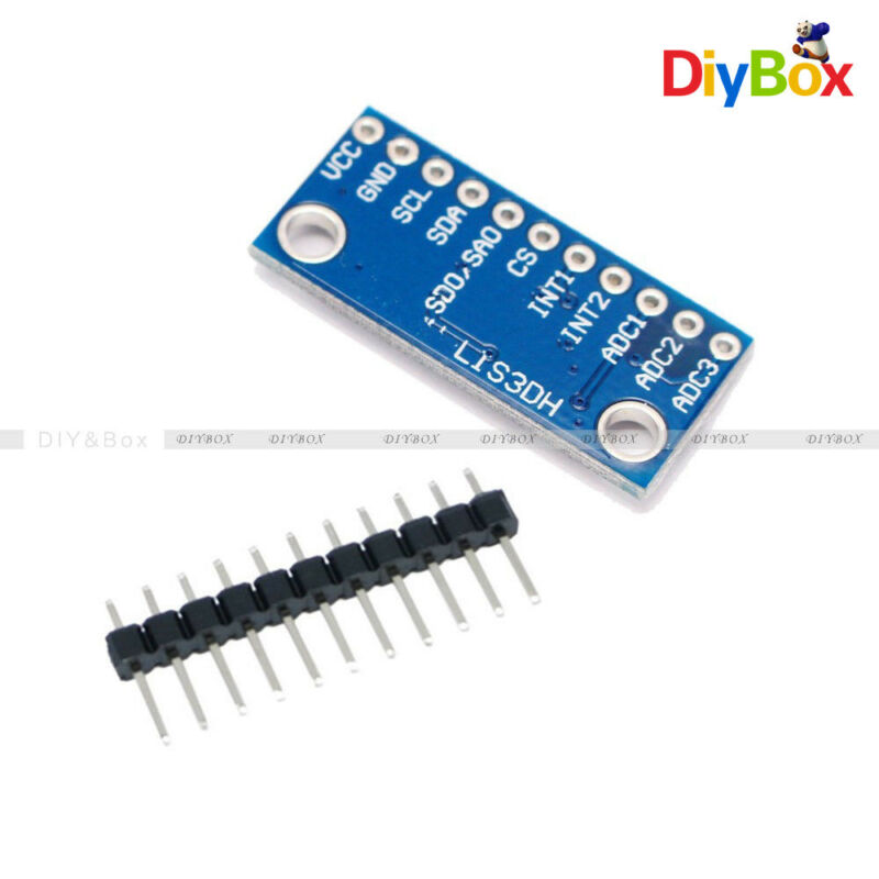 3-Axis LIS3DH Temperature Sensor Acceleration Development Board Replace ADXL345