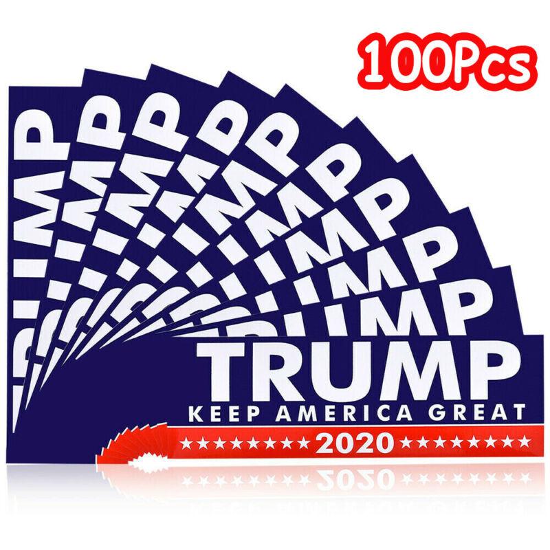 100Pcs Donald Trump President 2020 Keep America Great Again Bumper Stickers US