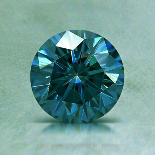 Moissanite Blue (VVS1) Brilliant Round Cut 6.00 MM TO 12.00 MM Loose For Jewelry