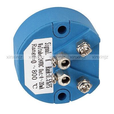 Rtd 4-20ma 0-800 Celsius Temperature Transmitter Thermocouple Sensor K Type