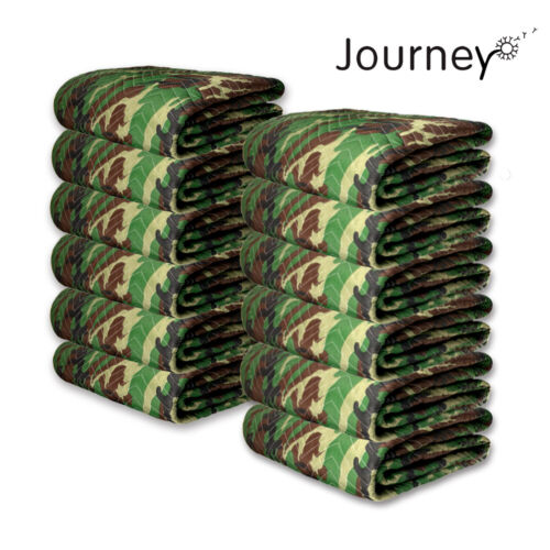 12Pcs Camo Moving Blankets 65lb/dozen Heavy Duty Furniture Shipping Pads  Mats
