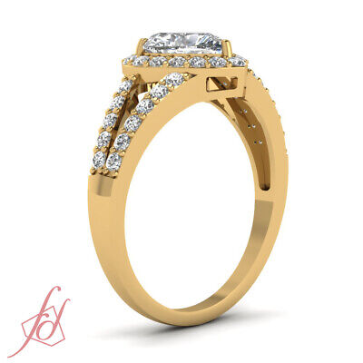 1.25 Carat Heart Shaped Diamond Split Shank Engagement Ring In 14K Yellow Gold 2