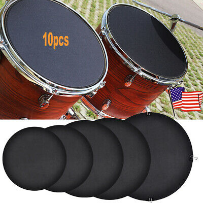 10Pcs Rubber Foam Silencer Practice Pad For Bass Snare Drum Sound Off Quiet (Bass Drum Silencer Pad)