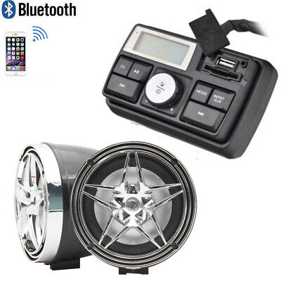 Handlebar Audio System FM Radio MP3 Stereo 2 Speaker for Honda Motorcycle Bike segunda mano  Embacar hacia Mexico