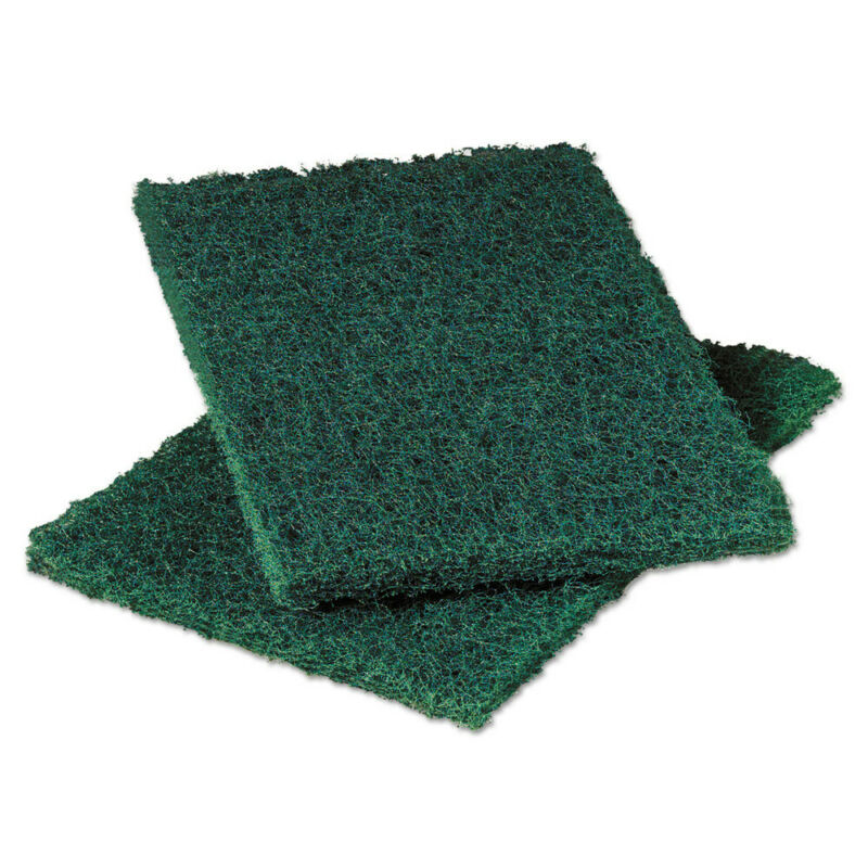 "3M Heavy Duty Scouring Pad 86 6""x9"" Green 12/pk 3 pks/ctn 86CT NEW"