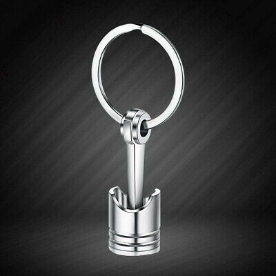 Car Engine Piston Alloy Keychain Metal Key Chain Keyring Turbo Auto Key Rings