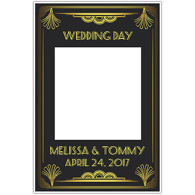 Great Gatsby Art Deco Wedding Selfie Frame Photo Booth Prop Poster