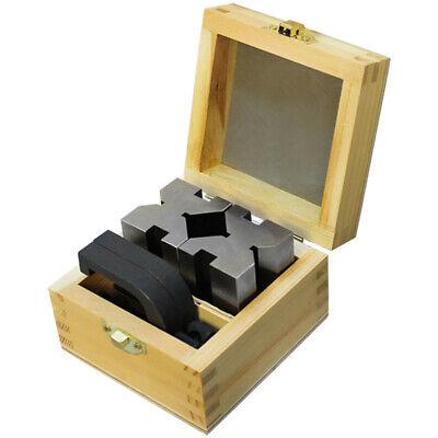 1-58 X 1-34 X 2-34 V Block Clamp Set Steel Gauge Gage Machinist Tool