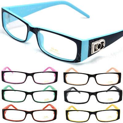 New Mens Womens Clear Lens Rectangle Frame Glasses Fashion Designer BOG Eyewear ()