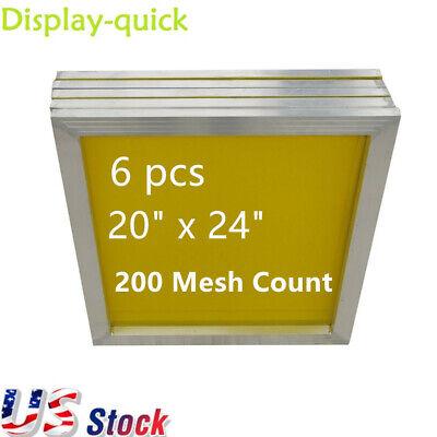 Us 6 Pcs 20x24 Aluminum Silkscreen Printing Screens With 200 Yellow Mesh Count