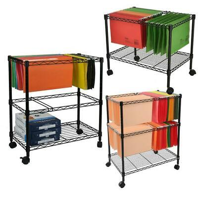 Sturdy 12-tier Metal Rolling File Cart For Letter Size And Legal Size Folder