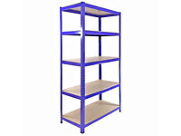 HEAVY DUTY 174kg/shelf BLUE Storage shelves 180cm x 90cm x 40cm Metal Racking Garage £45 delivery