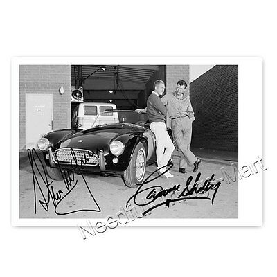 Steve McQueen and Carol Shelby - Autogrammfoto laminiert 