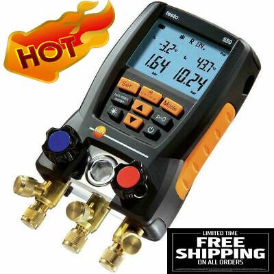 Testo 550 Refrigeration Digital Manifold Meter Kit 0563 1550 W Clamp Probes Case