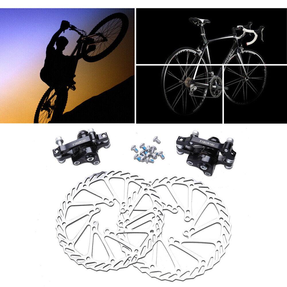 1 Pair of Mechanical Bike Disc Brake Front /& Rear Disc Rotor Brake Kit Bicycle