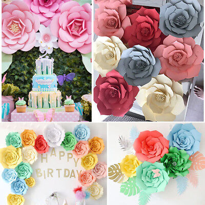 20-40cm Paper Flower Leaves Backdrop Wall Rose Flowers DIY Party Wedding - Wedding Paper