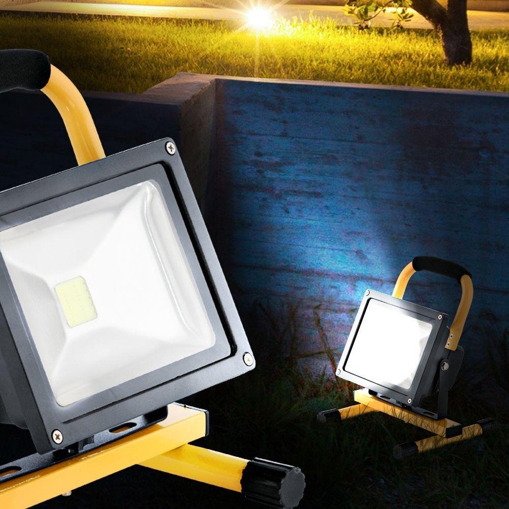 LED 20W Bau Strahler Außen Fluter Werkstatt Steh Lampe Haus Scheinwerfer Garage